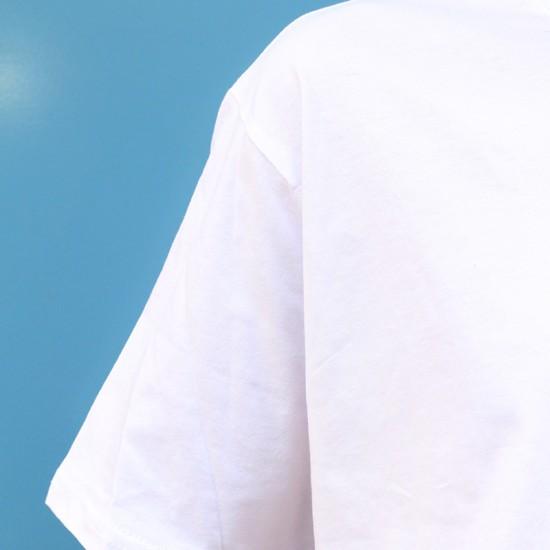 Beyaz Oversize Basic Tisort - Saf Beyaz