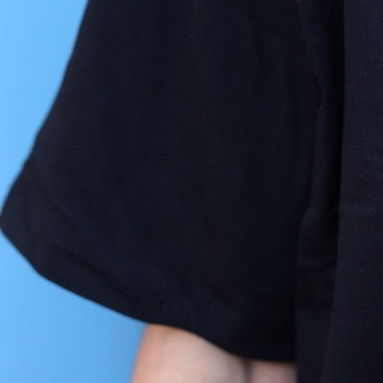 Siyah Oversize Basic Tisort -